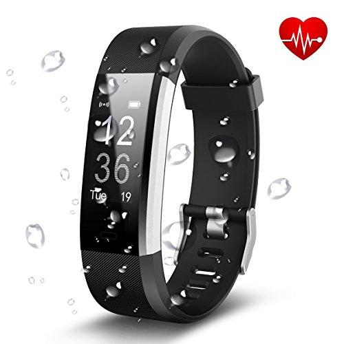 Antimi Fitness Armband, Wasserdicht IP67 Fitness Tracker, Pulsuhren,