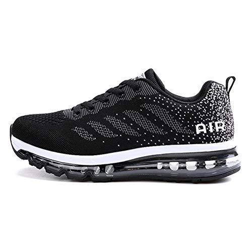 Axcone Damen Herren Sneaker Laufschuhe Air Sportschuhe Kletterschuhe Turnschuhe Running Fitness Sneaker Outdoors Straßenlaufschuhe Sports 833 BK 39EU